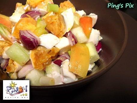 Red Salted Egg Salad