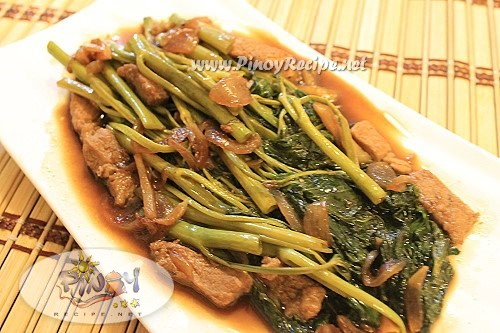 adobong kangkong filipino recipe