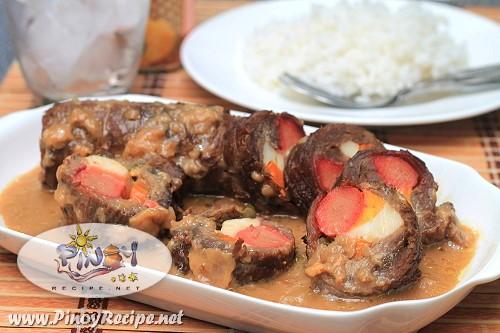 beef morcon recipe by Filipino Recipes Portal