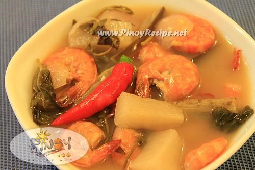 Sinigang Na Hipon Recipe Pinoy Style Shrimp In Sour Soup