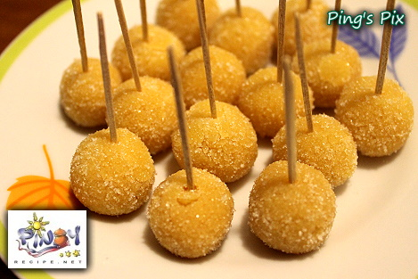 Filipino Recipe Yema http://www.pinoyrecipe.net/yema-balls-with-mashed-potato/