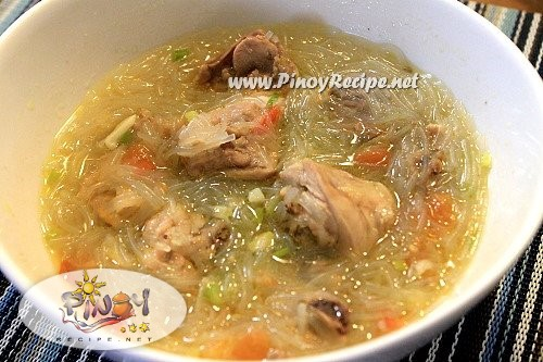 chicken sotanghon soup recipe