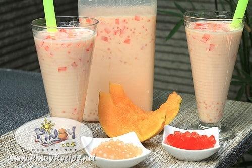 buko melon sago cooler by Filipino Recipes Portal