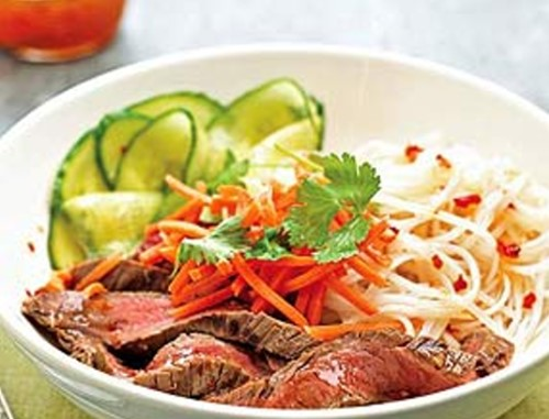 Spicy Beef and Noodle Salad Cooking Instructions: