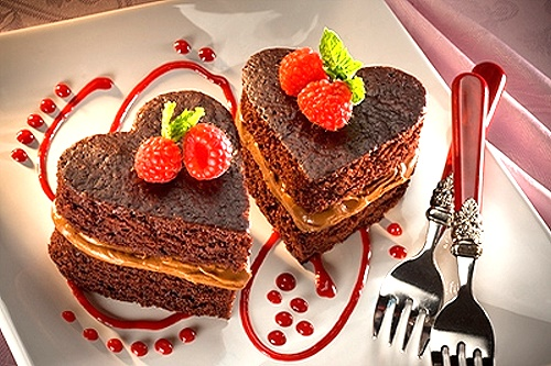 Chocolate Sweetheart Cakes