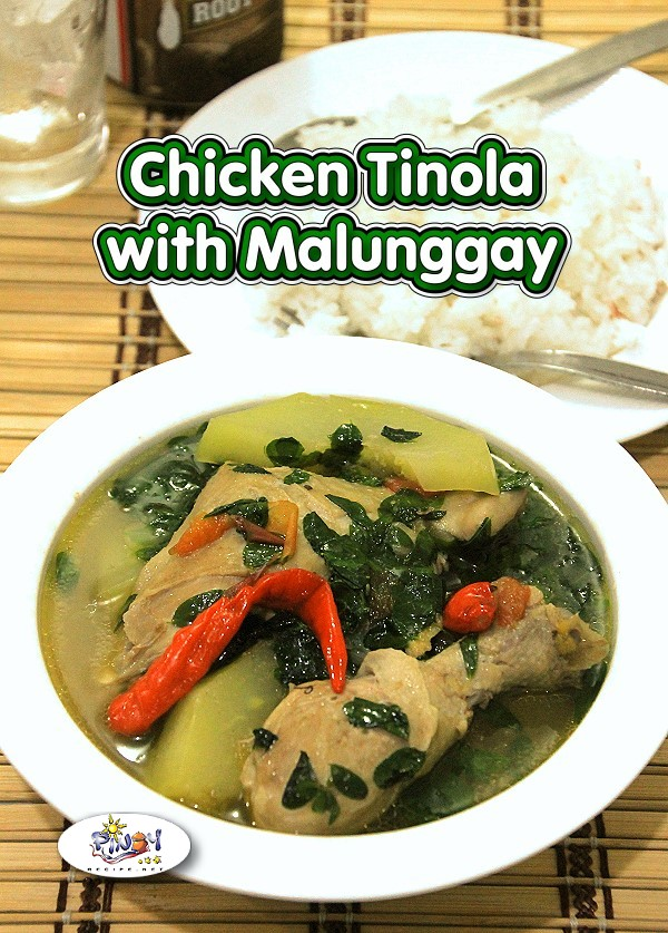 Tinolang Manok with Malunggay Recipe is a simple soup with chicken, ginger, lemongrass, malunggay and green papaya, it is a favorite dish in the Philippines.