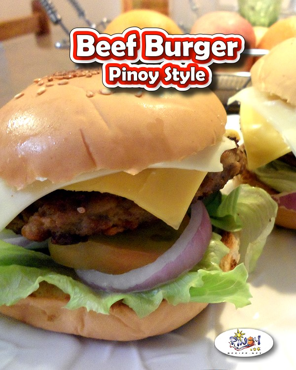 Filipino Beef Burger Recipe