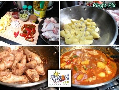 Kalderetang Manok or Chicken Caldereta