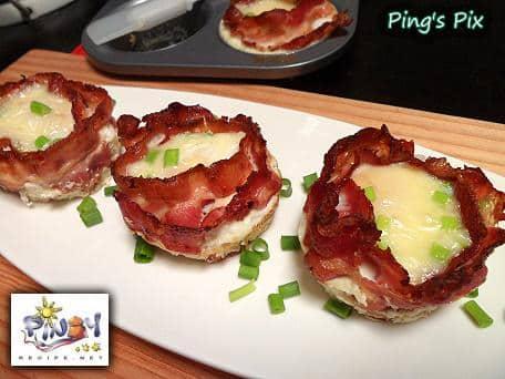 Bacon Cheese Egg Cups recipe