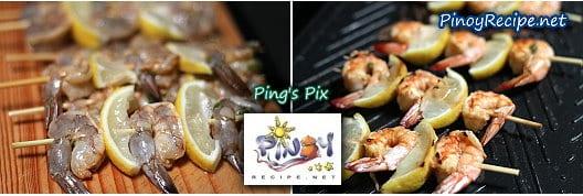 Grilled Shrimp Lemon Kebabs ingredients