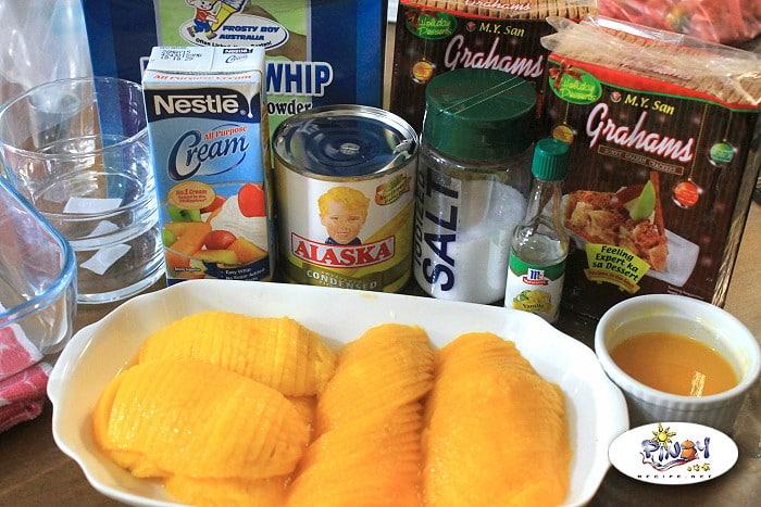 Ingredients of Mango Float