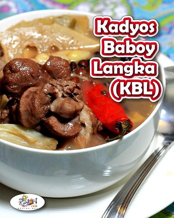Kadyos Baboy Langka Recipe