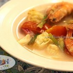 Filipino Recipe Shrimp Sinigang with Cabbage