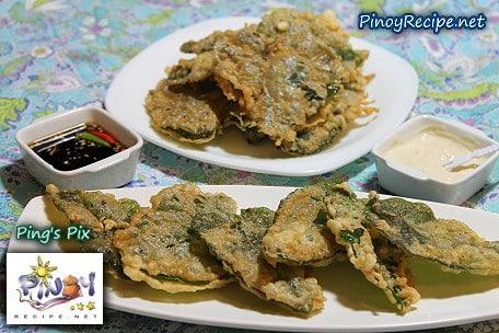 kangkong fritters recipe