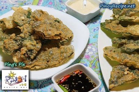 pinoy kangkong fritters