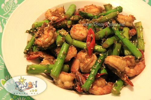 Shrimp and Asparagus stir fry Recipe