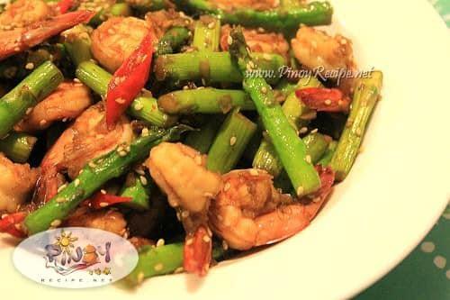 Shrimp and Asparagus stir fried Recipe