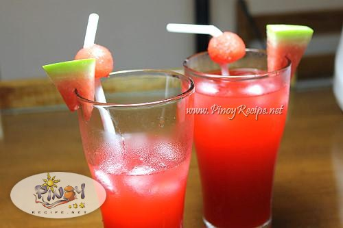 watermelon cooler pinoy recipe