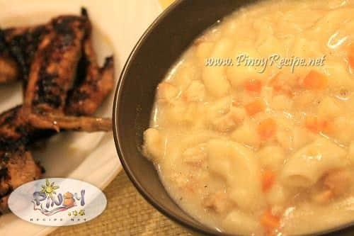 chicken sopas filipino recipe