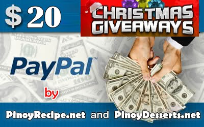 Pinoy Recipe.net Christmas giveaways 3rd prize