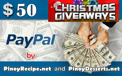 PinoyRecipe.net Christmas giveaways first prize