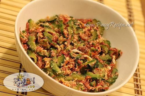 ginisang ampalaya with corned beef