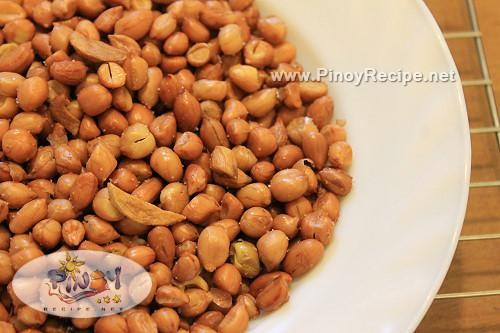 adobong mani recipe or fried garlic peanuts