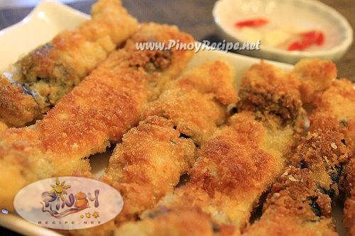 bangus belly tempura