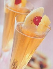 caribbean-champagne cocktail