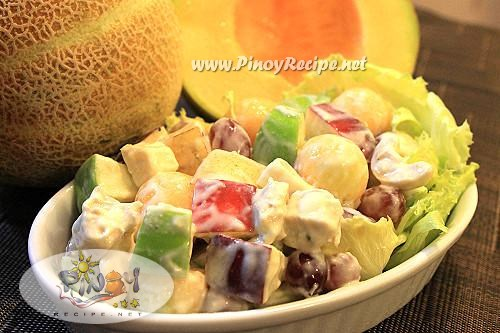 filipino fruity chicken salad pinoy recipe