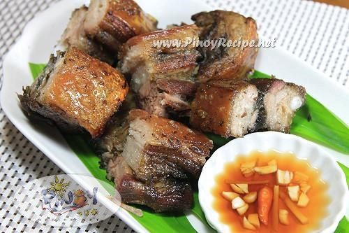 inihaw na liempo or  grilled pork belly