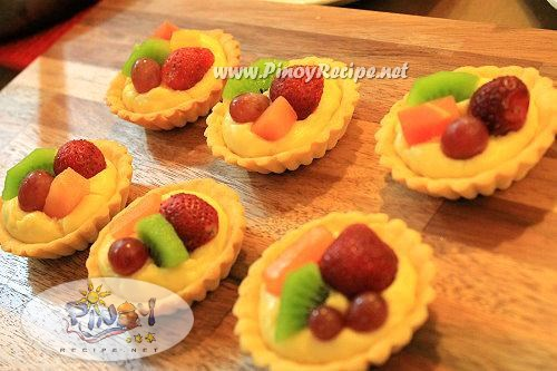mini fruit tarts fruit custard