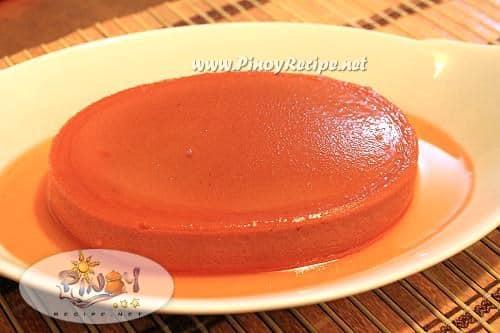 strawberry leche flan
