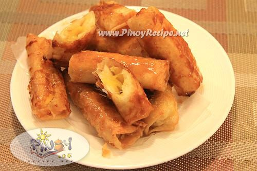 turon or banana spring rolls
