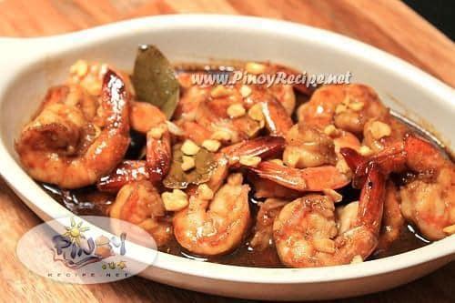 adobong hipon recipe