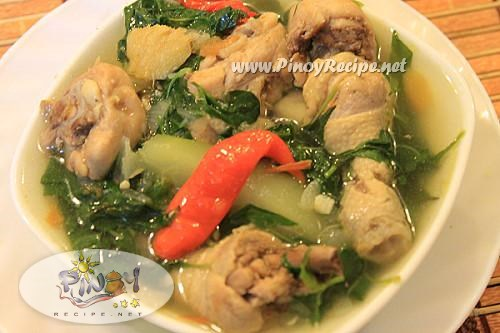 chicken tinola or tinolang manok recipe