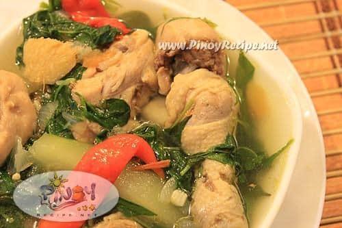 chicken tinola or tinolang manok