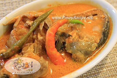 ginataang hito or catfish in coconut milk
