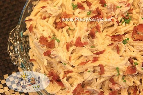 spaghetti carbonara filipino style