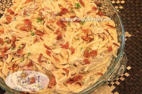 spaghetti carbonara pinoy style