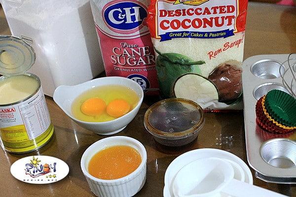 Ingredients of Coconut Macaroons