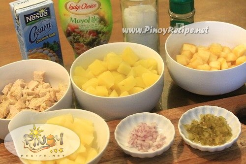 chicken potato salad ingredients