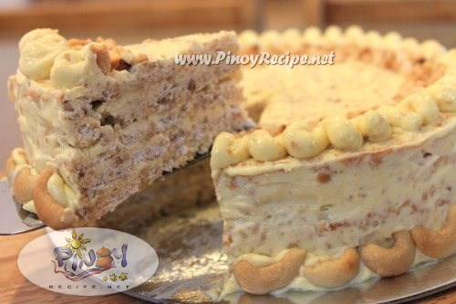 Pin Cashew Meringue Cake Or Sans Rival Celebr Eat Y By Sarah Lee Cake ...