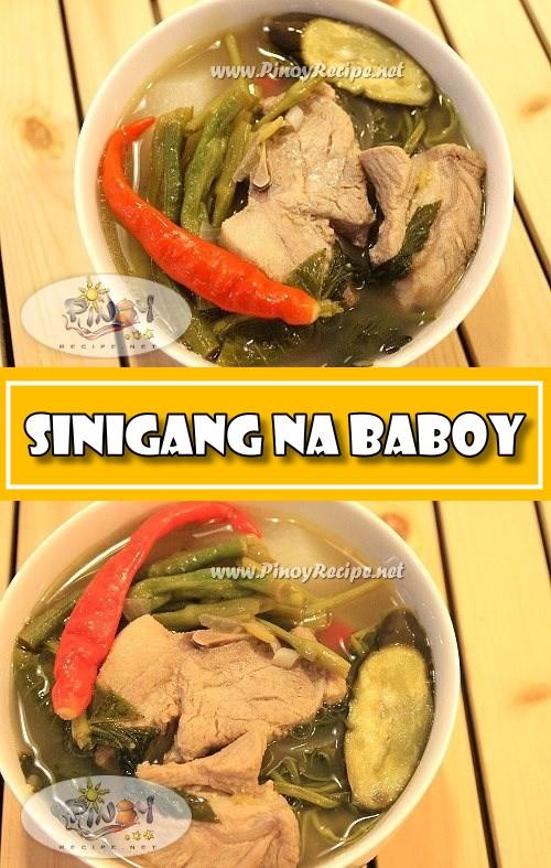 Sinigang na Baboy Recipe (Pork Sinigang)