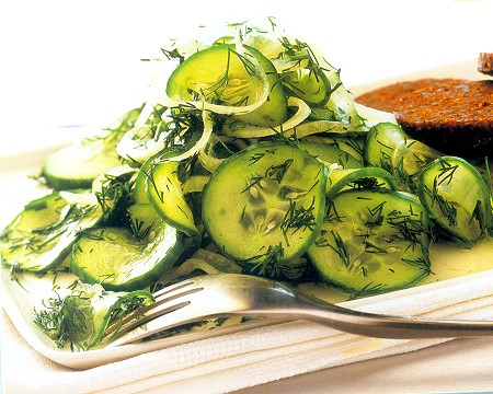 sour-cucumber with fresh dill salad