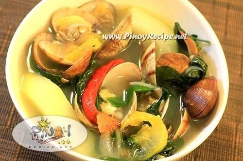 tinolang tulya recipe