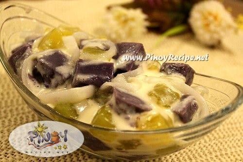 ube macapuno salad