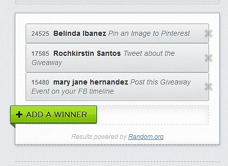 Winners of HYUNDAI Media Pad Giveaway