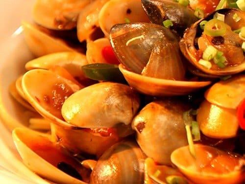 chili clams recipe