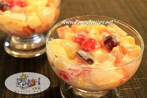 cream cheese fruit salad recipe